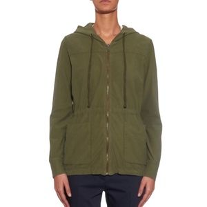 JAMES PERSE 100% COTTON LONG HOODED ZIP UP JACKET